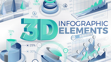 3D Infographic Elements After Effects Template