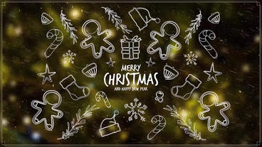Merry Christmas Badges After Effects Template