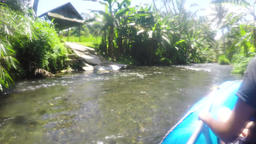 Rafting on the mountain river in Indonesia Archivo