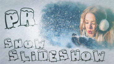 Snow Slideshow Premiere Pro Template