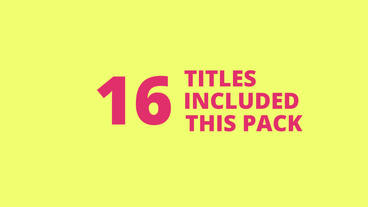 16 Modern Titles Template For Adobe After Effects After Effectsテンプレート