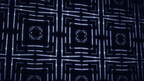 White Glowing Led Particles Kaleidoscope VJ Loop Motion Background Animation