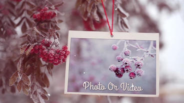 Christmas New Year Clear Slideshow After Effects Template