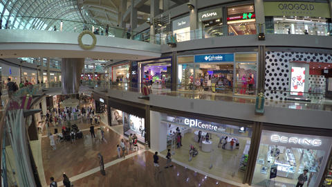 Many Retail Shops inside the Mall at Marina Bay Sands Footage