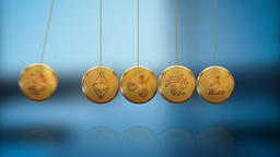 Cryptocoins - Newton's Cradle - Loop Animation