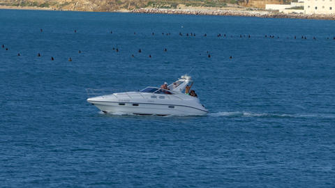 Motor yacht in the sea 2 Image