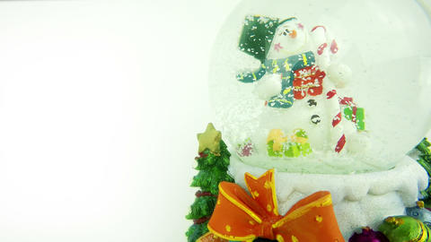 Snowman Sphere Christmas New Year Concept