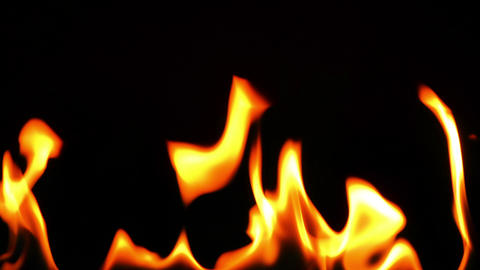 Burning Fire Texture on Black Background GIF
