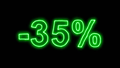 Neon flickering green -35% in the haze. Alpha channel Premultiplied - Matted Animation