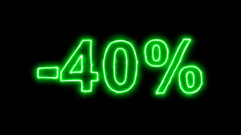 Neon flickering green -40% in the haze. Alpha channel Premultiplied - Matted Animation
