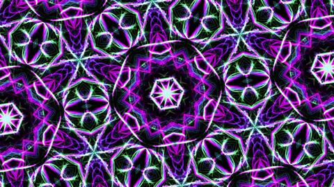 Digital Animation of a kaleidoscopic Mandala Image