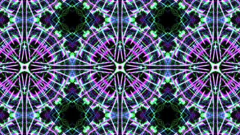 Digital Animation of a kaleidoscopic Mandala Animación