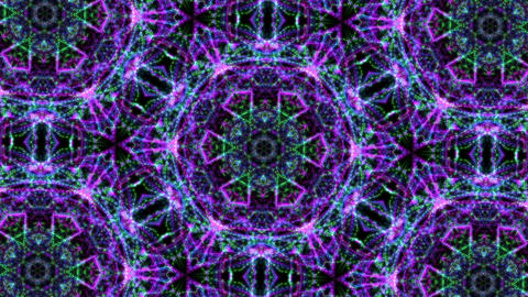 Digital Animation of a kaleidoscopic Mandala Animation