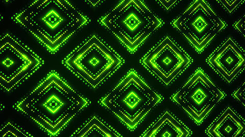 Green Led Particles Squares Abstract VJ Loop Motion Background 애니메이션