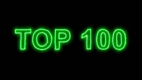 Neon flickering green best TOP 100 in the haze. Alpha channel Premultiplied - Animation