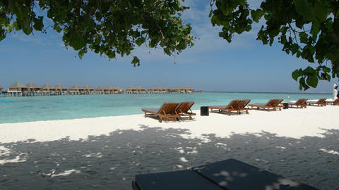 Tropical. White Sand Beach Paradise in the Maldives Footage