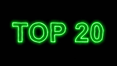 Neon flickering green best TOP 20 in the haze. Alpha channel Premultiplied - Animation
