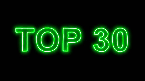 Neon flickering green best TOP 30 in the haze. Alpha channel Premultiplied - Animation
