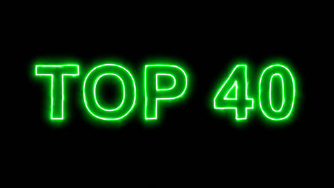 Neon flickering green best TOP 40 in the haze. Alpha channel Premultiplied - Animation