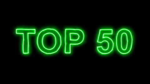 Neon flickering green best TOP 50 in the haze. Alpha channel Premultiplied - Animation