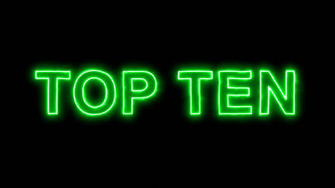 Neon flickering green best TOP TEN in the haze. Alpha channel Premultiplied - Animation