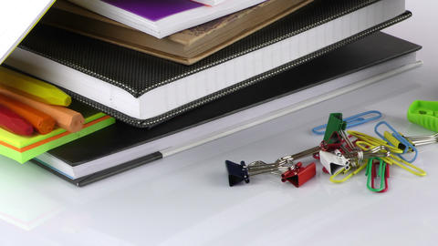 School Education or Office Work Equipment Tools Footage