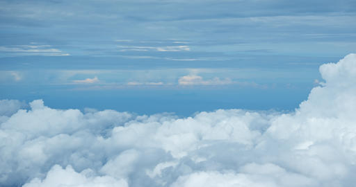 Dense Bank of Cumulus Clouds from Above. 4k video Footage