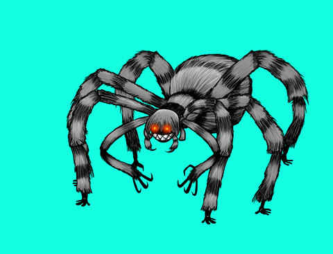 Spooky Spider girl Animation