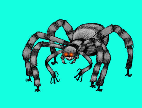 Spooky Spider girl, Stock Animation