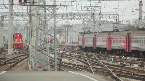 Central Railway Station With Trains Footage