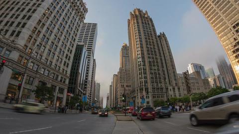 Chicago City Traffic Timelapse Scene Footage