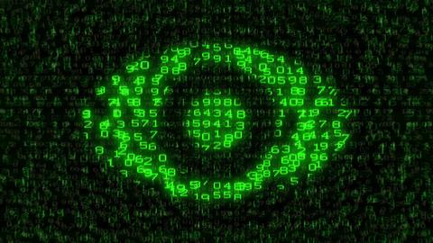 Internet Surveillance - Digital Data Code Matrix Animation