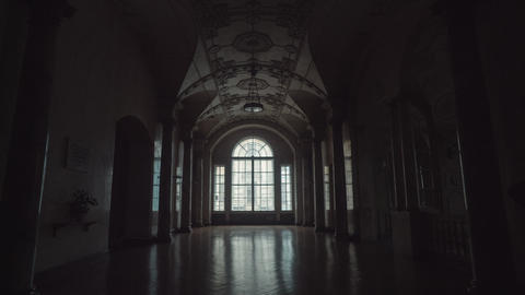 Interior Of The Beautiful Historic Building stock footage