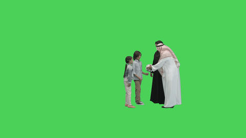 Arab Parents with children playing with ball Footage
