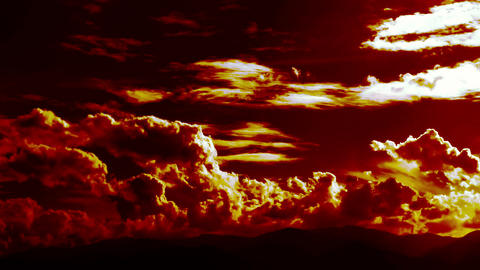 Burning Hell Blowing Fire Clouds Time Lapse Pack 1