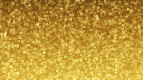Golden background of Bokeh loop animation Animation