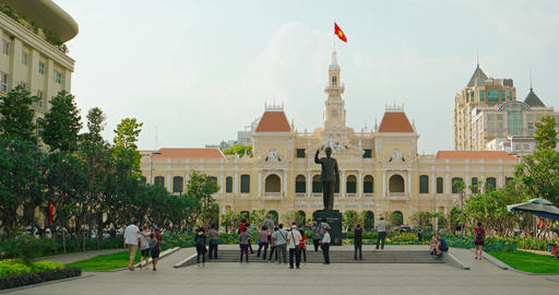Ho Chi Minh City city hall. Shot with panning Footage
