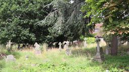 Cemetary at St Mary's Church Merton Park London UK 1 Footage