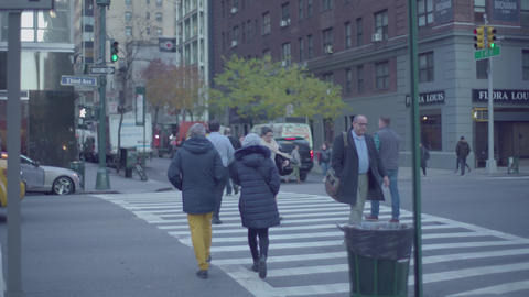 Crosswalk in NY Footage