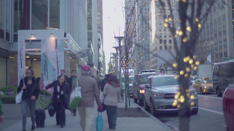 Pedestrian sidewalk Footage