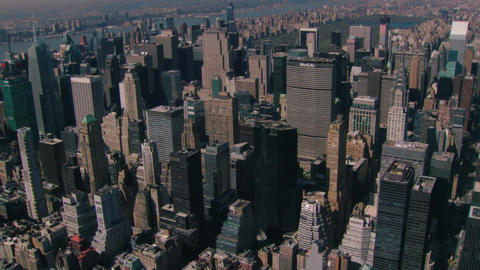 Aerial zoom to chrysler building Live Action