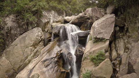 Small waterfall near Ba Ho waterfall. Vietnam. Nha Trang Footage