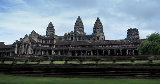 Timelapse Abstract of Tourists Visiting the Famous Angkor Wat in Cambodia Footage