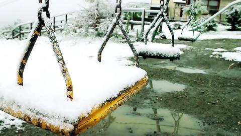 Swings Of A Snowed Square 영상물