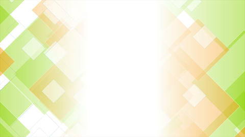 Tech geometric video animation with green orange squares Animation