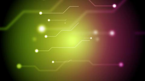 Green purple tech circuit board technology video animation Animation