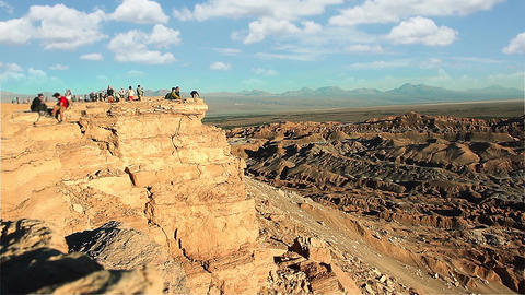 Coyote Rock In The Arid Atacama Desert In Chile Footage