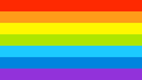 Gay Flag Colorful Rainbow Lines Transition. LGBT Motion Graphic Background. 4K Footage