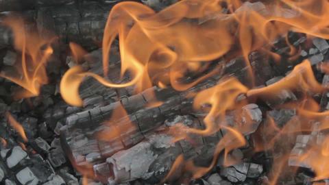 Bonfire flames closeup Footage