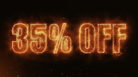 35% OFF Text Electric Energy Revealed Hot Glowing Burning Fire Motion Background Animation